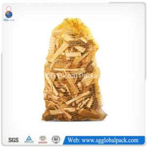 Yellow Poly Mesh Bags for Packaging Kindling Material pictures & photos
