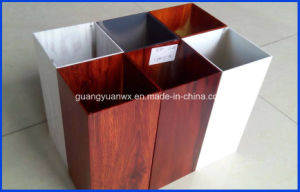Wood Grain Aluminium Extruded Tubes/Pipe/Profile 6063 T5 pictures & photos