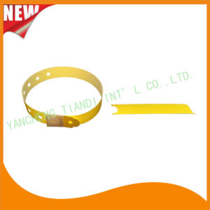 Hospital Plastic ID Wristband Bracelet Bands with Tail (8060-17) pictures & photos
