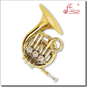 Bb 3keys Gold Lacquered Mini French Horn pictures & photos
