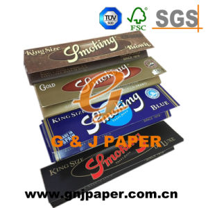 King Size Brown Blue Gold De Luxe Smoking Paper pictures & photos