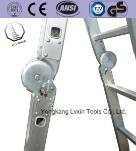 En131 Certificate 12 Steps 3.7m Aluminum Folding Ladder pictures & photos