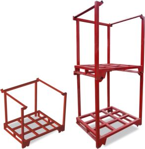 Heavy Duty Steel Stackable Upright Pallet Rack pictures & photos
