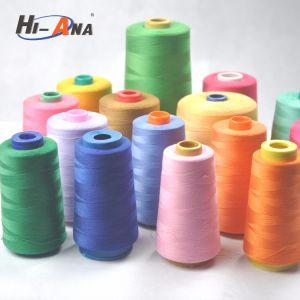 Custom Made Print Logo Hot Sale 100% Polyester Spun Yarn pictures & photos