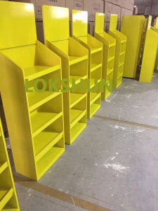 Rotary Wooden Display Rack with 4 Shelves Holding 100kg, China MDF Display Manufacturer pictures & photos