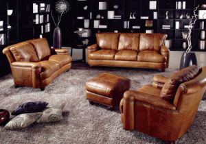 Hot Sale Office Genuine Leather Sofa (L074) pictures & photos