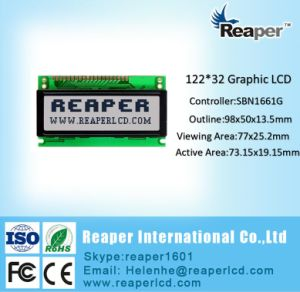 122X32 COB Graphic LCD Display, MCU 8bit, St7920, 18pin for Medical Instrument pictures & photos