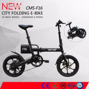 36V Lithium Battery 16 Inch Wheel Mini Folding Electric Bike pictures & photos