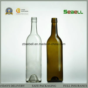 750ml Cork Top/Screw Top Flint Glass Wine Bottle Na-032 pictures & photos