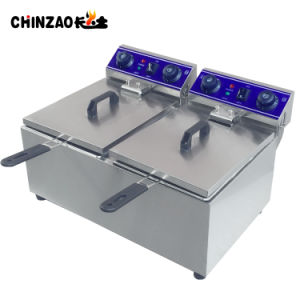 Ce Approval Electric French Fry Fryer Machine (DZL-132B) pictures & photos