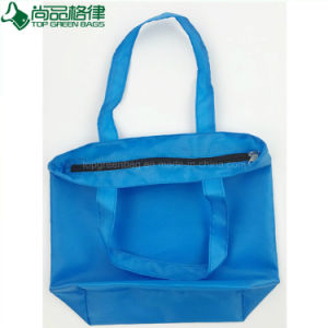 Cheap High Quality Zippered 210d Polyester Shopping Tote Bag Handbag pictures & photos