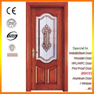 Solid Wood Doors Interior Door with Decorative Glass pictures & photos