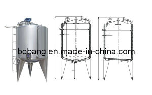 Food Mixing Stainless Steel Cooling Heating Aging Tank pictures & photos
