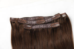 100% Unprocessed Brazilian Virgin Human Hair Remy Clip-in Hair Extension pictures & photos