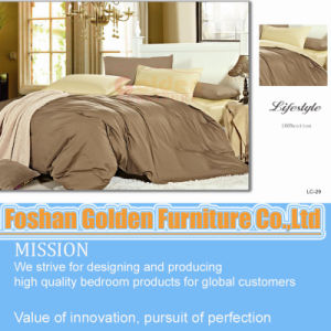 High Quality Plain White Sateen Bedding (LH-11#) pictures & photos