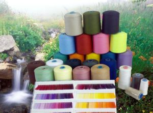 Dyed Polyester Spun Yarn 20/1 30/1 40/1 pictures & photos