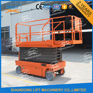 Hydraulic Mobile Scissor Telescopic Ladder Lift for Sale pictures & photos