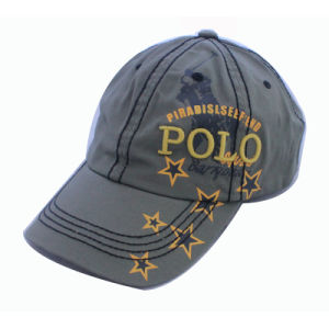 Plain Color Washed Cotton Thick Embrodiery Soprts Cap pictures & photos