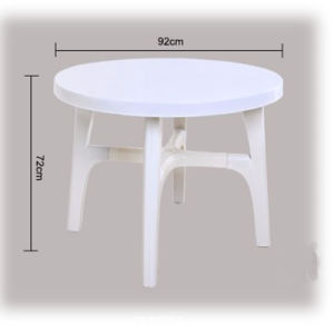 Outdoor Plastic Table with Umbrella Hole pictures & photos