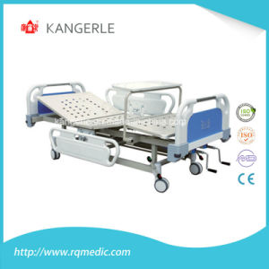 Wholesale Adjustable Hosptial Bed Double Crank. Manual Bed pictures & photos