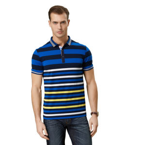 Fashion Nice Cotton/Polyester Yarn Dyed Polo Shirt (P062) pictures & photos