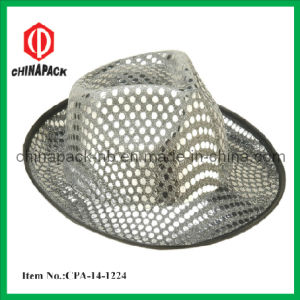 Shiny Adult Silver Sequin Fedora Hat (CPA-14-1224) pictures & photos