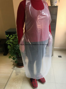 Disposable Poly Apron Color White pictures & photos