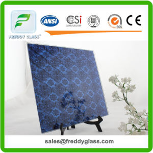 Frosted Mirror Bathroom Decorative Mirror Beveled Edge Etched Pattern pictures & photos