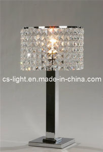 Decoration Chrome Base Crystal Lampshade Table Lamp (CTD641)