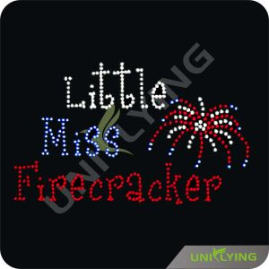Little Miss Firecracker Rhinestone Transfer Patterns