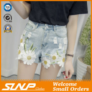 2016 Women Clothes Embroidery Fashion Denim Short Jeans