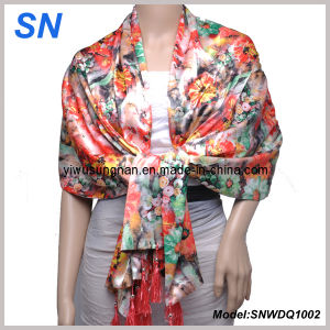 2013 Fashion Satin Scarf (snwdq1002) pictures & photos
