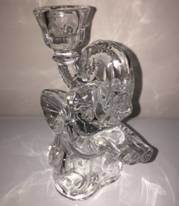 Transparent Elephanted-Shaped Glass Candle Holders Candlestick pictures & photos