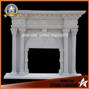 Marble Fireplace Surround Stone Carving Sculpture Limestone Fireplace Mantel pictures & photos