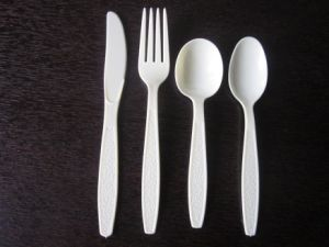 Reusable Plastic Cutlery Jx144 pictures & photos