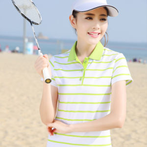 2016 China Factory Wholesale Custom Ladies Stripe Polo Shirts pictures & photos