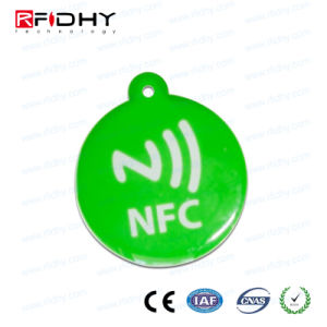 Ready Made NFC Token - Ntag216 - White - 30mm with Hole pictures & photos
