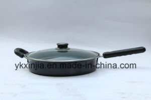 Kitchenware 24cm Carbon Steel Frying Pan with Two Handles pictures & photos