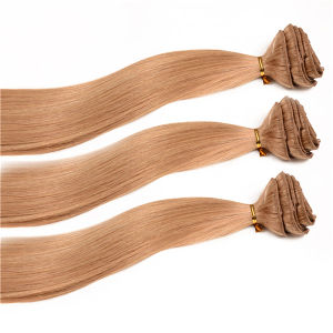 7A Cheap 100% Human Hair Blonde Clip in Hair Extensions pictures & photos