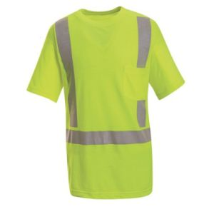 Reflective Safety T-Shirt with Pocket for Workers pictures & photos