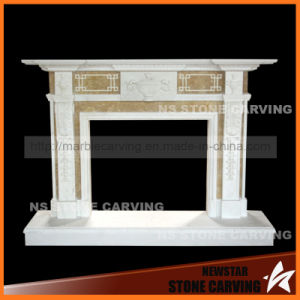 Arch Style Natural Beige Travertine Fireplace pictures & photos