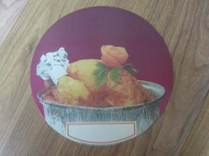 Aluminum Foil Container Printed Lid pictures & photos