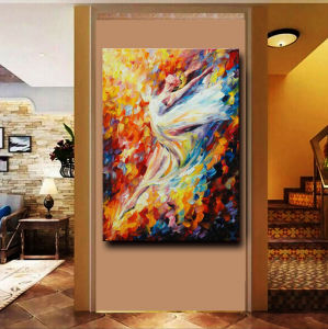 Hand-Painted Modern Figure Palette Knife Wall Art Decor Abstract Hoofer Oil Painting on Canvas pictures & photos