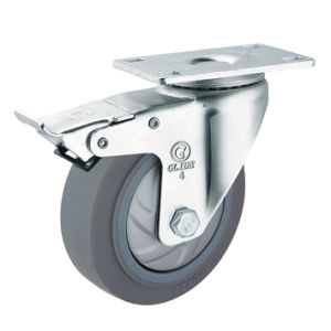 Medium Duty Single Bearing TPR Caster (G3317) pictures & photos