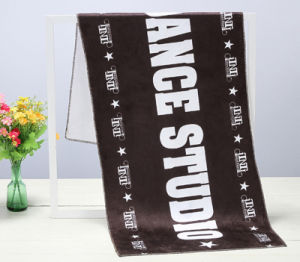 Customized 100% Cotton Active Printed Workout Velvet Pile Towel pictures & photos