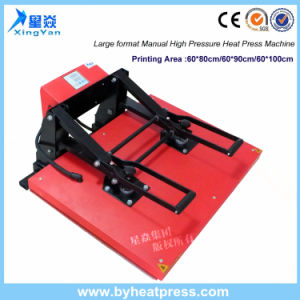 Factory Sales High Quality Large Format Manual Heat Press Machine pictures & photos