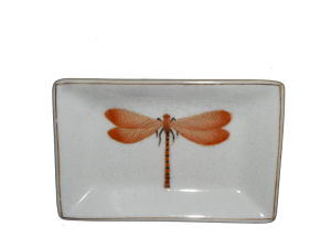 Bathroom Products White Ceramics Rectangular Soap Saucer (CW3960)
