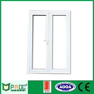 Aluminium Thermal Break Sliding Doors with Single Tempered Glass Pnoc006 pictures & photos