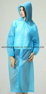 Adult′s Polyester/PVC Waterproof & Windproof Rain Poncho pictures & photos