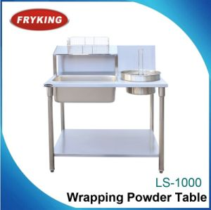 Manual Operation Commercial Wrapping Powder Table pictures & photos
